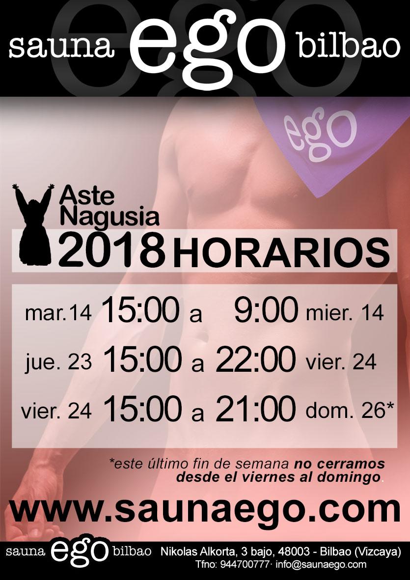 ►HORARIOS ASTE NAGUSIA 2018